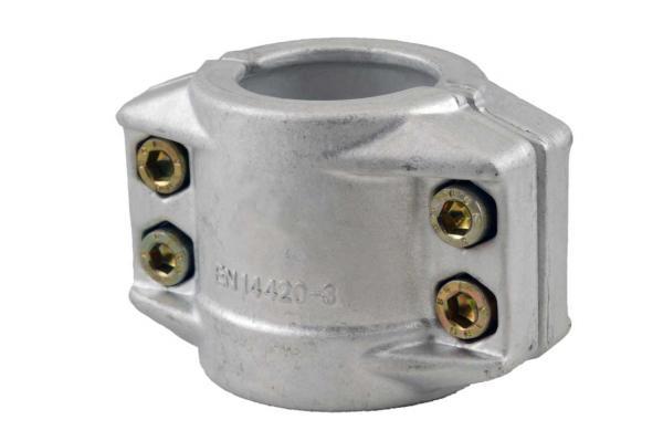 Klemmschalen 2-teilig aus Aluminium nach EN 14420-3