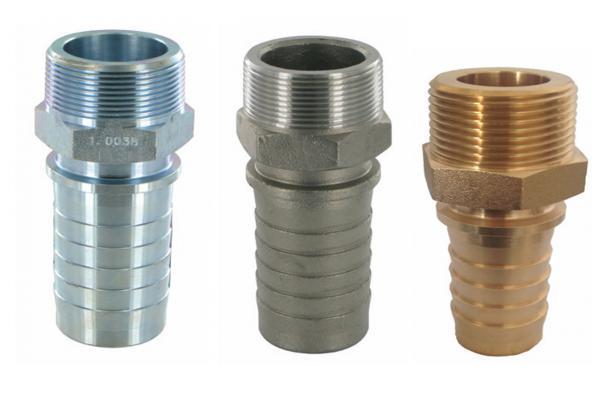 Dampfschlaucharmatur mit Außengewinde und Sicherungsbund, EN14423