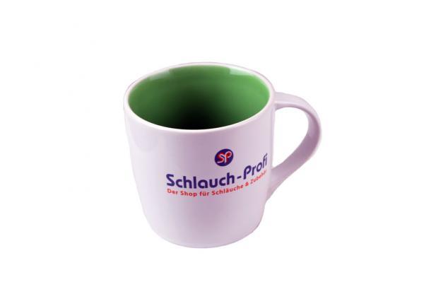 Schlauch-Profi Tasse - weiß