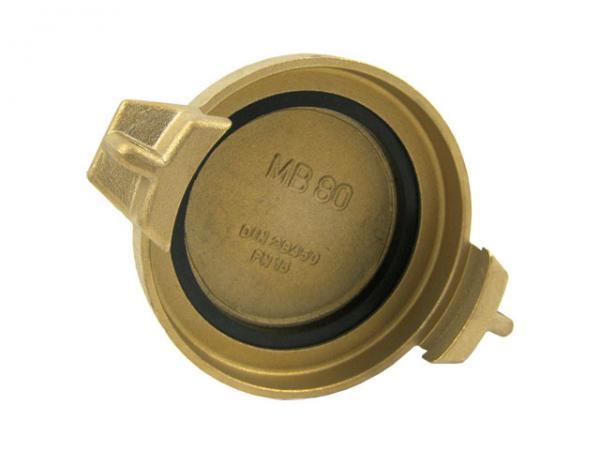 TW Blindkappe Typ MB aus Messing, EN14420-6