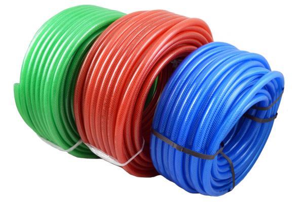 PVC Gewebeschlauch farbig-transparent