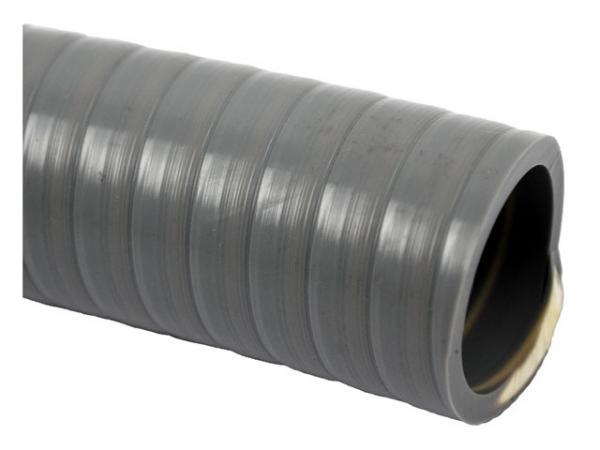 PVC Klebeschlauch - Schwimmbadschlauch grau