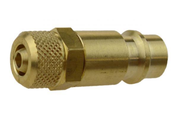 Druckluftstecknippel NW 7,2 mit Überwurfmutter, Messing