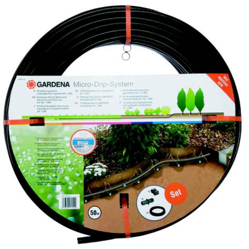 erweiterungsset tropfrohr unterirdisch 13 7 mm gardena 1395 20 micro drip system gardena. Black Bedroom Furniture Sets. Home Design Ideas