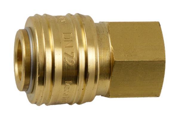 Druckluftkupplung NW 7,2 mit Innengewinde, Messing