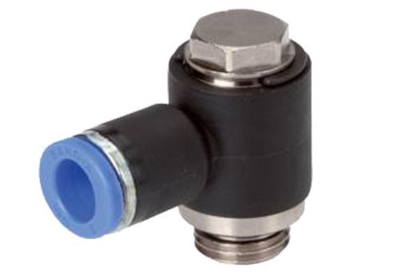 L-Steckverschraubung mit zylindrischem Außengewinde und Außensechskant, Pneumatik IQS, Standard