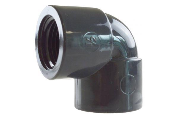 Winkel 90° mit Innengewinde, Kunststoff