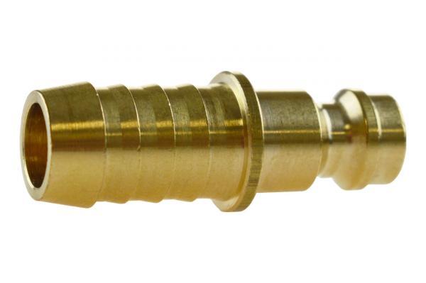 Druckluftstecknippel NW 5 mit Schlauchtülle, Messing