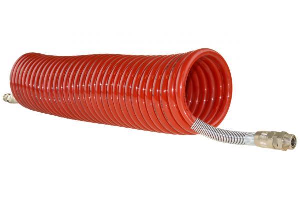 Polyamid Spiralschlauch drehbar mit Außengewinde