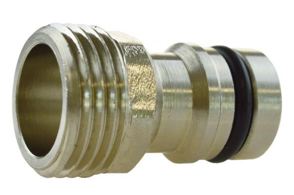GEKA® plus Gerätestück mit Außengewinde, Messing verchromt