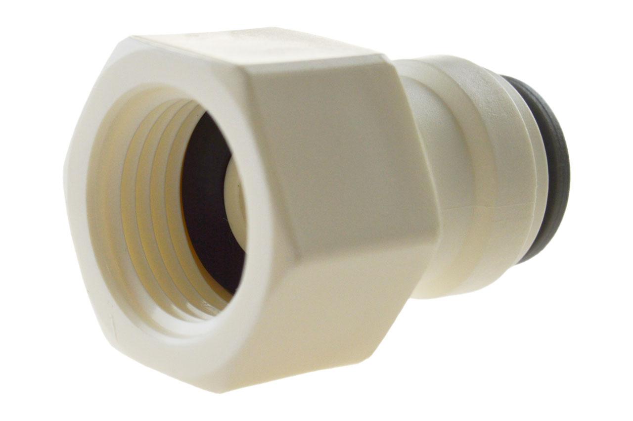 Pneumatik IQS Steckverschraubung für zöllige Schläuche mit Außensechskant