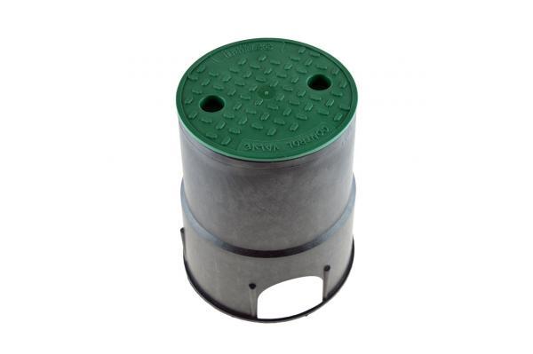 Ventilbox MINI rund mit Deckel, Kunststoff