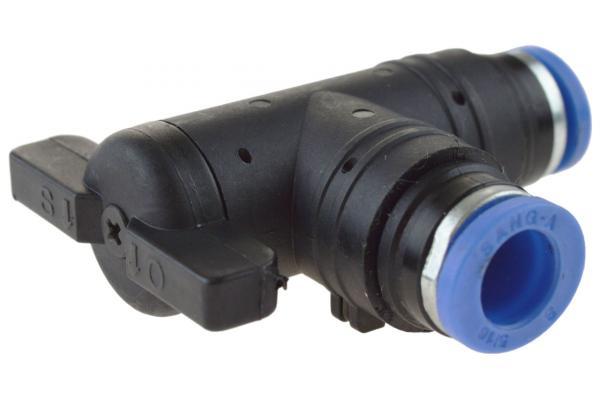 Winkel-Absperrhahn mit Steckanschluss, Pneumatik IQS, Standard