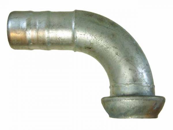 Bogen 90° mit V-Teil und Schlauchtülle, verzinkt - Perrot