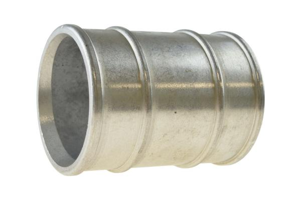 Schlauchhülse, Doppelschlauchtülle, Aluminium