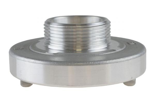 Festkupplung mit Außengewinde, System Storz, Aluminium geschmiedet