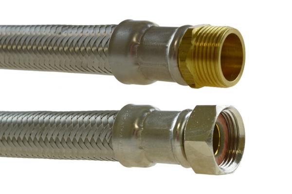 Flex Verbindungsschlauch mit Innen- und Außengewinde, Edelstahl