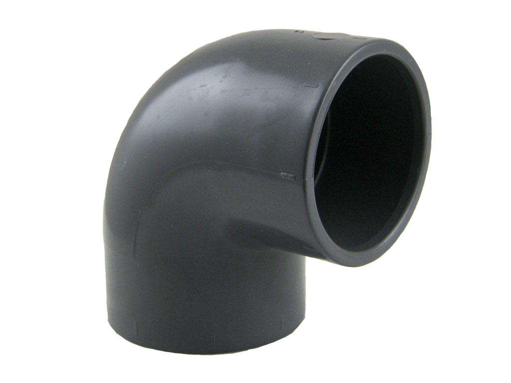 PVC Winkel 90 u00b0 mit Klebemuffen PVC U Klebefittings PVC