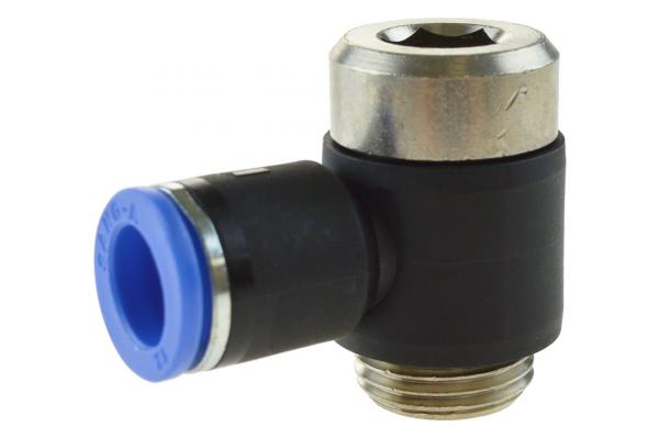 L-Steckverschraubung mit zylindrischem Außengewinde und Innensechskant, Pneumatik IQS, Standard
