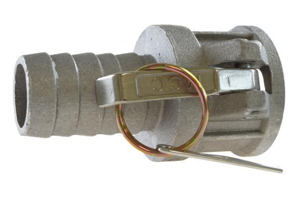 M-Teil mit Schlauchtülle Typ C, System Kamlock, Aluminium