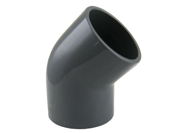 PVC-U Winkel 45° mit Klebemuffen