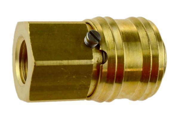 Druckluftkupplung NW 7,2 verriegelbar mit Innengewinde, Messing