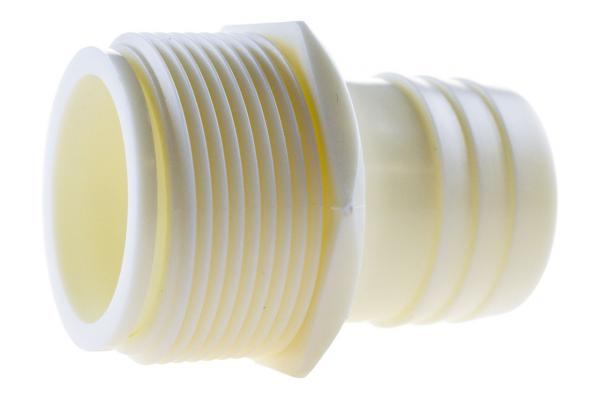 2/3 Schlauchtülle mit Außengewinde drehbar, PE
