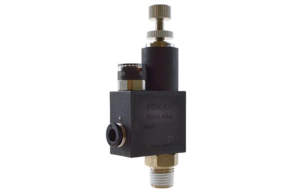 Druckregelventil mit Außengewinde und Manometer, Pneumatik IQS