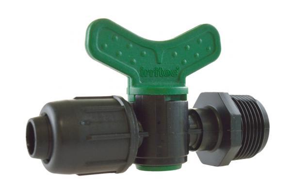 VME - PE-Rohr Kugelhahn mit Außengewinde und Schnellverschluss, PN 4