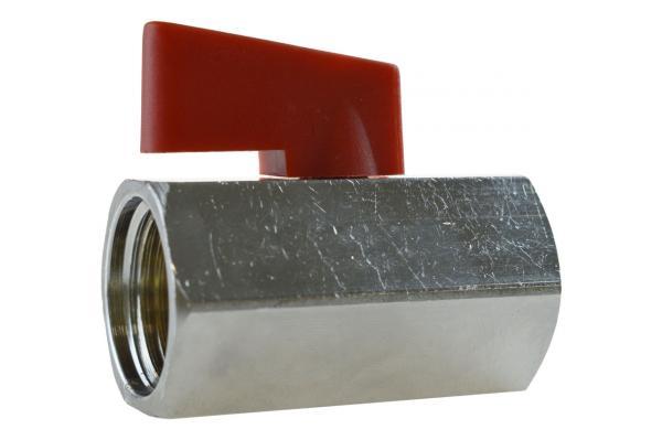 Mini-Kugelhahn mit Innengewinde PN 15, Messing