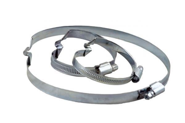 Brückenschelle W1 - verzinkt, für rechtssteigende Schläuche
