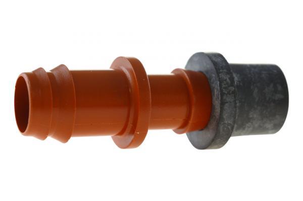 837 - Startverbinder mit Gummieinsatz, PN 4, braun