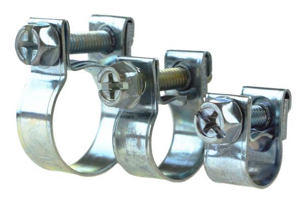 Mini-Schlauchschellen W1 - verzinkt, 9 mm Bandbreite