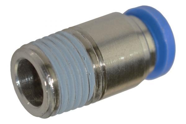 Steckverschraubung rund mit Außengewinde und Innensechskant, Pneumatik IQS, Standard