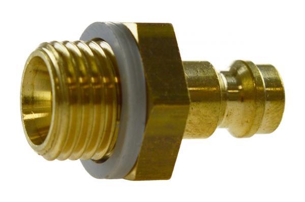 Druckluftstecknippel NW 5 mit Außengewinde, Messing