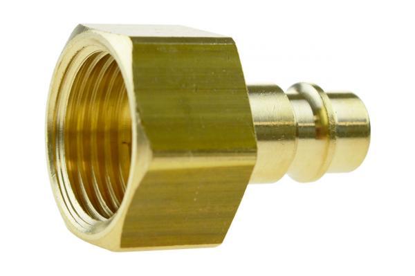 Druckluftstecknippel NW 7,2 mit Innengewinde, Messing