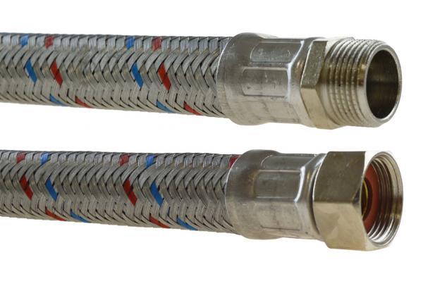 Flex Verbindungsschlauch verzinkt mit Innen- und Außengewinde