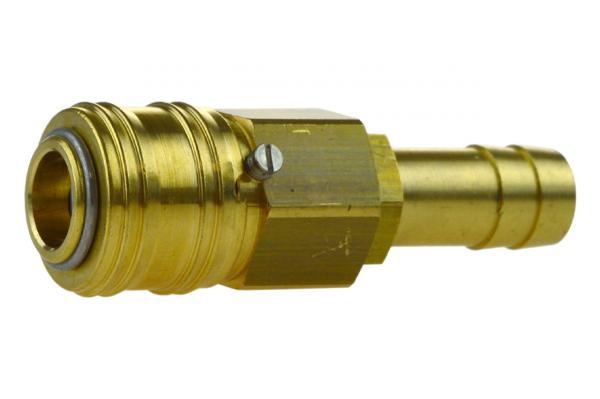 Druckluftkupplung NW 7,2 verriegelbar mit Schlauchtülle, Messing