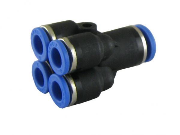 Mehrfachverteiler mit 4 reduzierten Abgängen, Pneumatik IQS, Standard