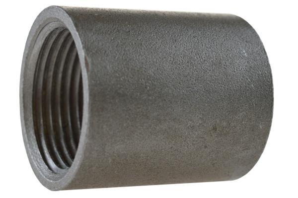 Anschweißmuffe mit Innengewinde, Stahl schwarz