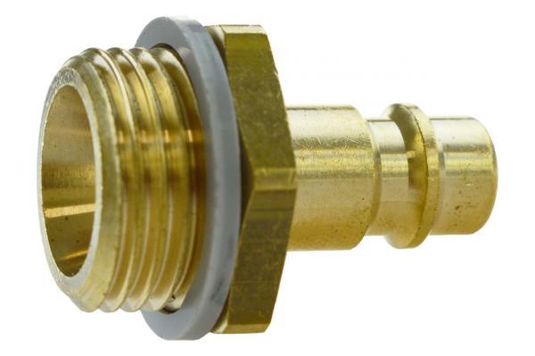 Druckluftstecknippel NW 7,2 mit Außengewinde, Messing