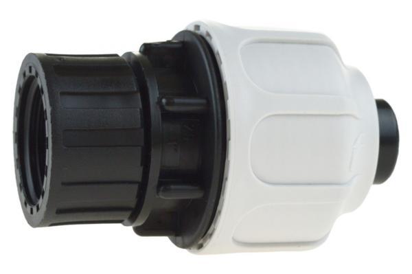 Verschraubung mit Innengewinde für Pumpenschlauch, PP