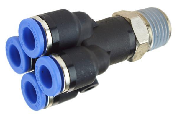 Mehrfachverteiler mit Außengewinde, Pneumatik IQS, Standard