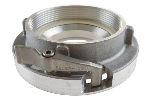 Festkupplung mit Innengewinde und Verriegelung, System Storz, Aluminium geschmiedet