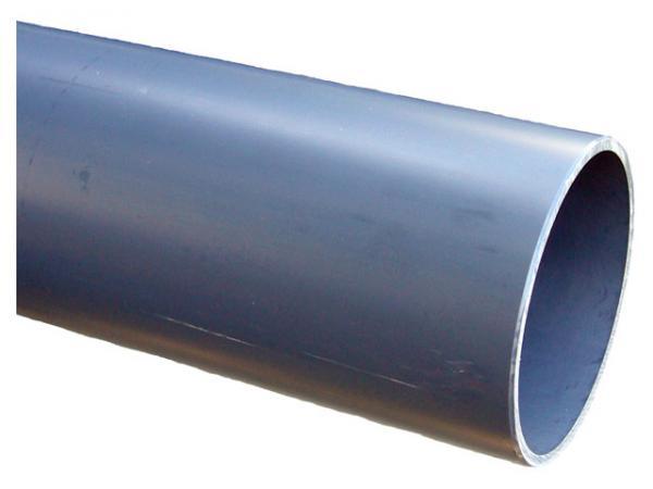 PVC Druckrohr, PN10, grau