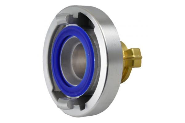 Übergangsstück Storz C auf GEKA® plus KTW für Trinkwasser, Aluminium / Messing