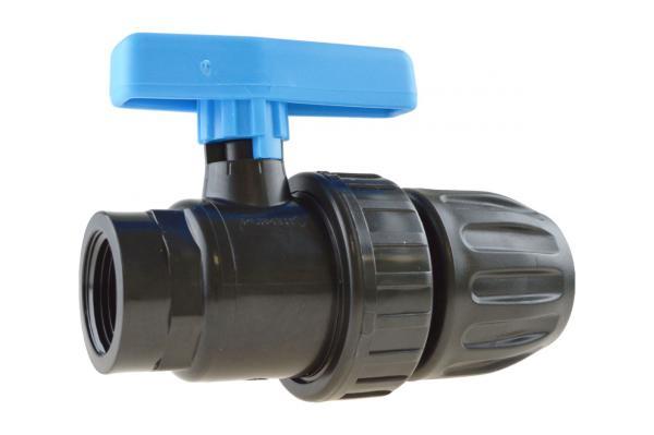 PE-Rohr Kugelhahn mit Innengewinde, PP, Brauchwasser