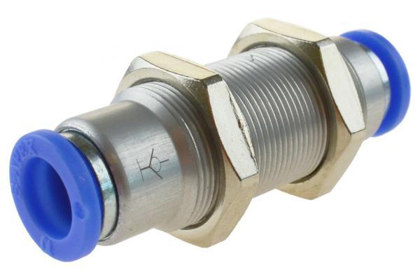 Steckverbindung mit Schottgewinde selbstabsperrend, Pneumatik IQS, Standard