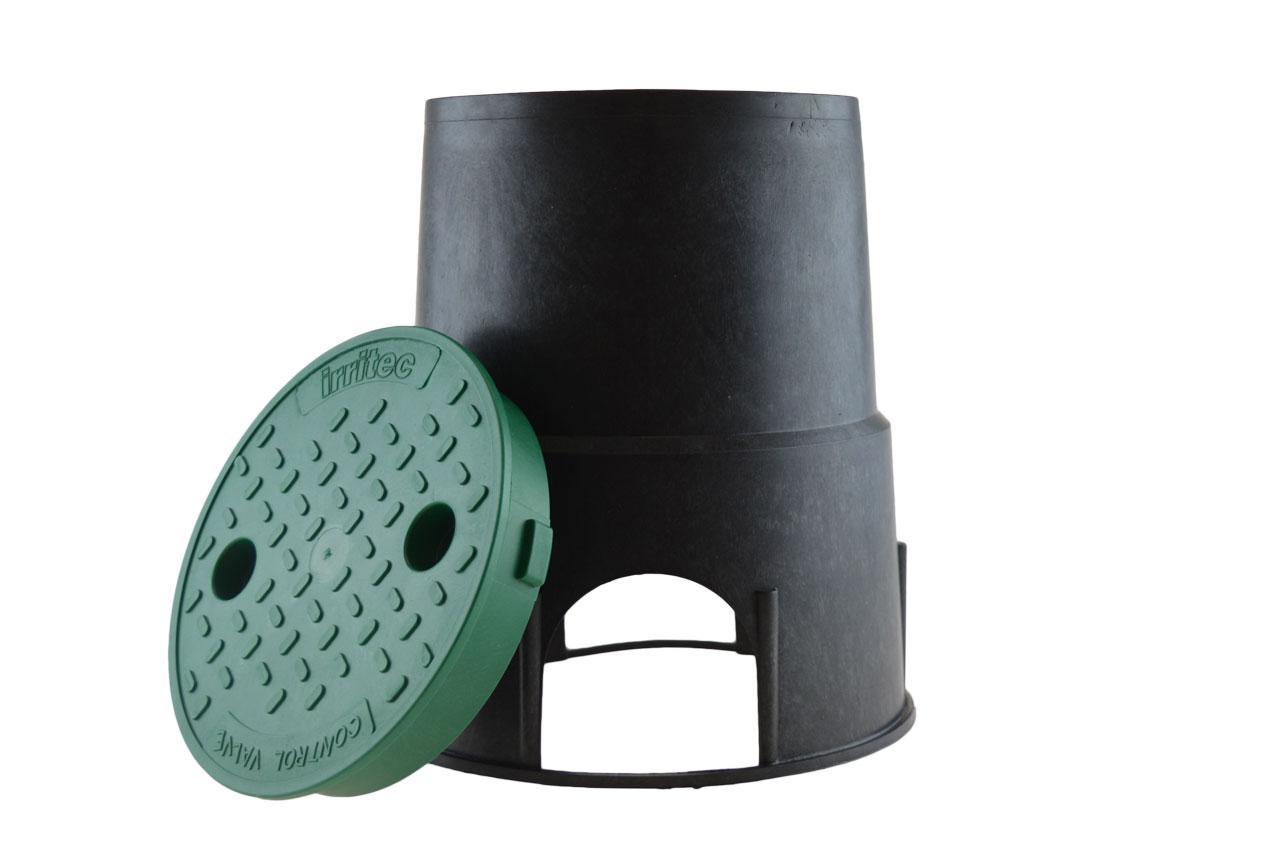 rund mit Deckel Ventilbox Ventilkasten Irritec MINI Kunststoff