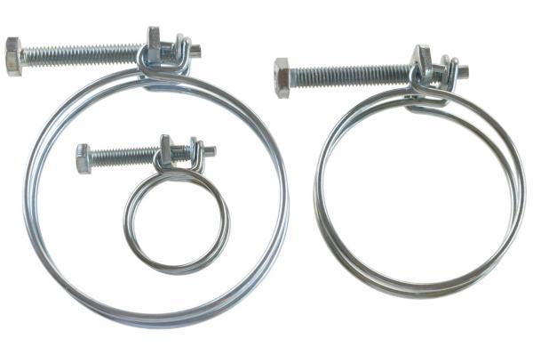 Doppeldrahtklemme W1 - verzinkt (Drahtschlauchschelle)